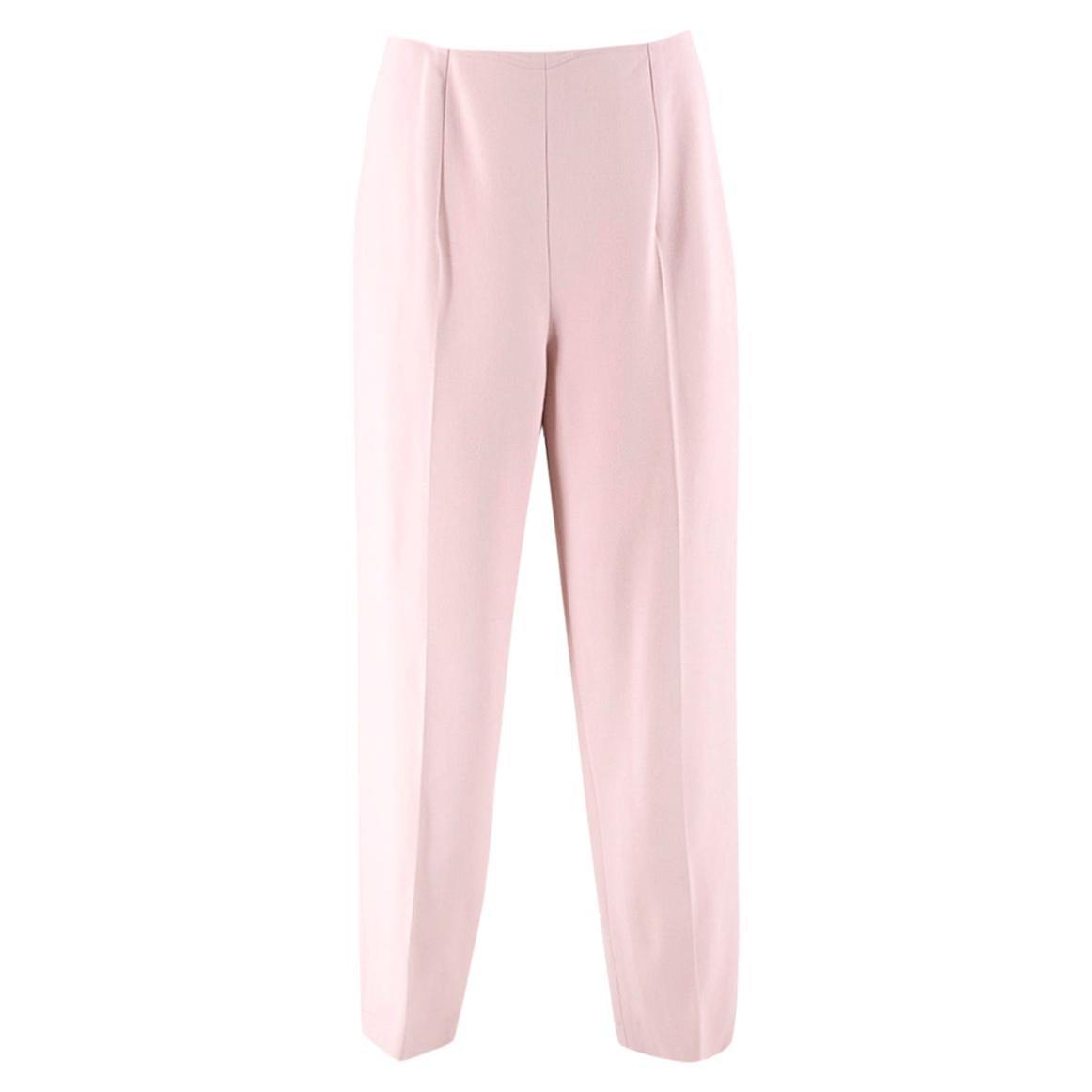 Alexander McQueen Dusty Pink Wool Trousers - Size US 6