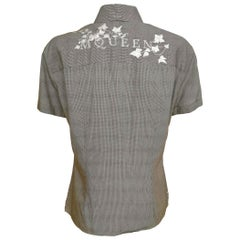 Alexander McQueen Early 1990s Ivy Leaf Embroidered Logo Shirt