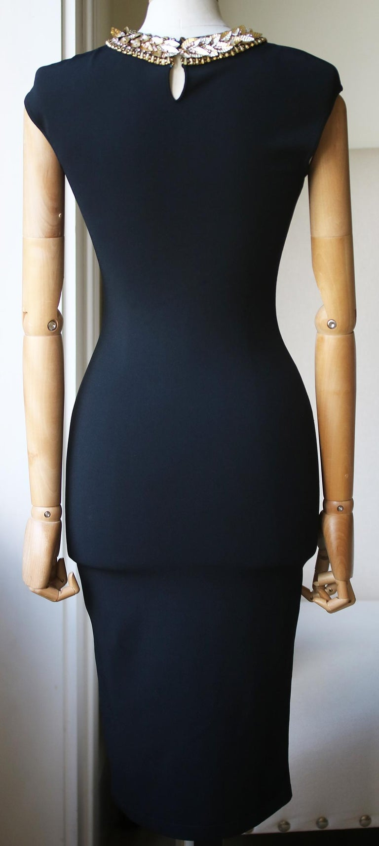 Alexander McQueen Embellished Stretch-Knit Dress  In Excellent Condition In London, GB