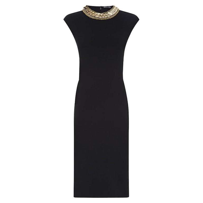 Alexander McQueen Embellished Stretch-Knit Dress