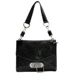 Alexander McQueen Embossed-Leather Shoulder Bag