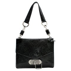 Alexander McQueen Embossed-Leather Shoulder Bag