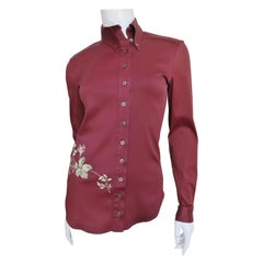 Alexander McQueen Embroidered Shirt 2000