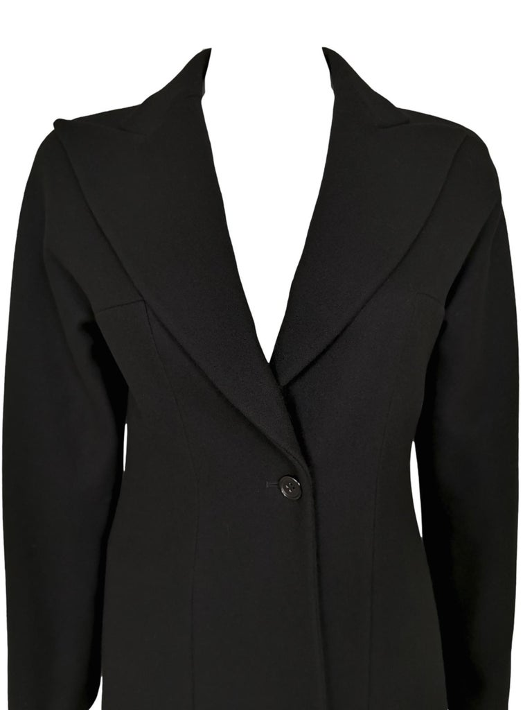 Black Alexander McQueen F/W 1996 Exaggerated Lapel Coat  For Sale
