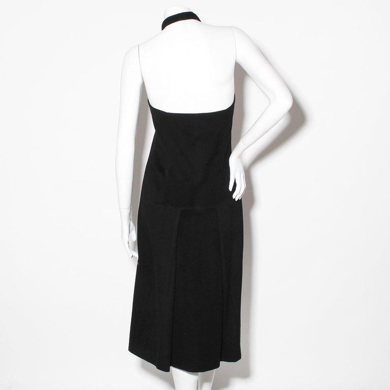 "Alexander McQueen Fall 1998 ""Joan Collection""Cashmere Beaded Halter Dress For Sale 2"