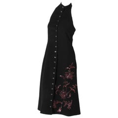 "Alexander McQueen Fall 1998 ""Joan Collection""Cashmere Beaded Halter Dress"