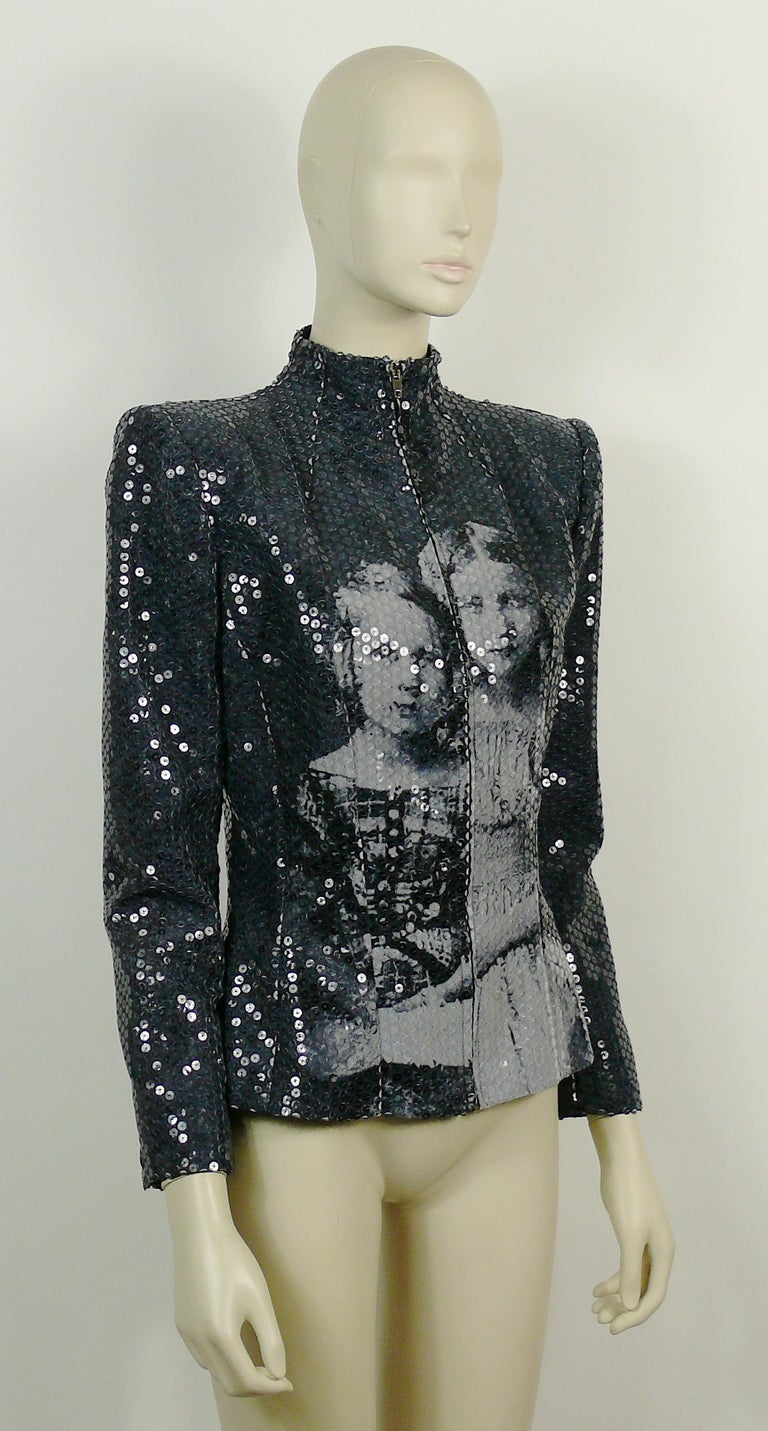 ALEXANDER McQUEEN important Museum quality Russian Imperial ROMANOV Princess sequin jacket.  Fall/Winter 1998