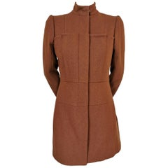 Alexander McQueen Fitted Double Box Pleat Front Coat 1999