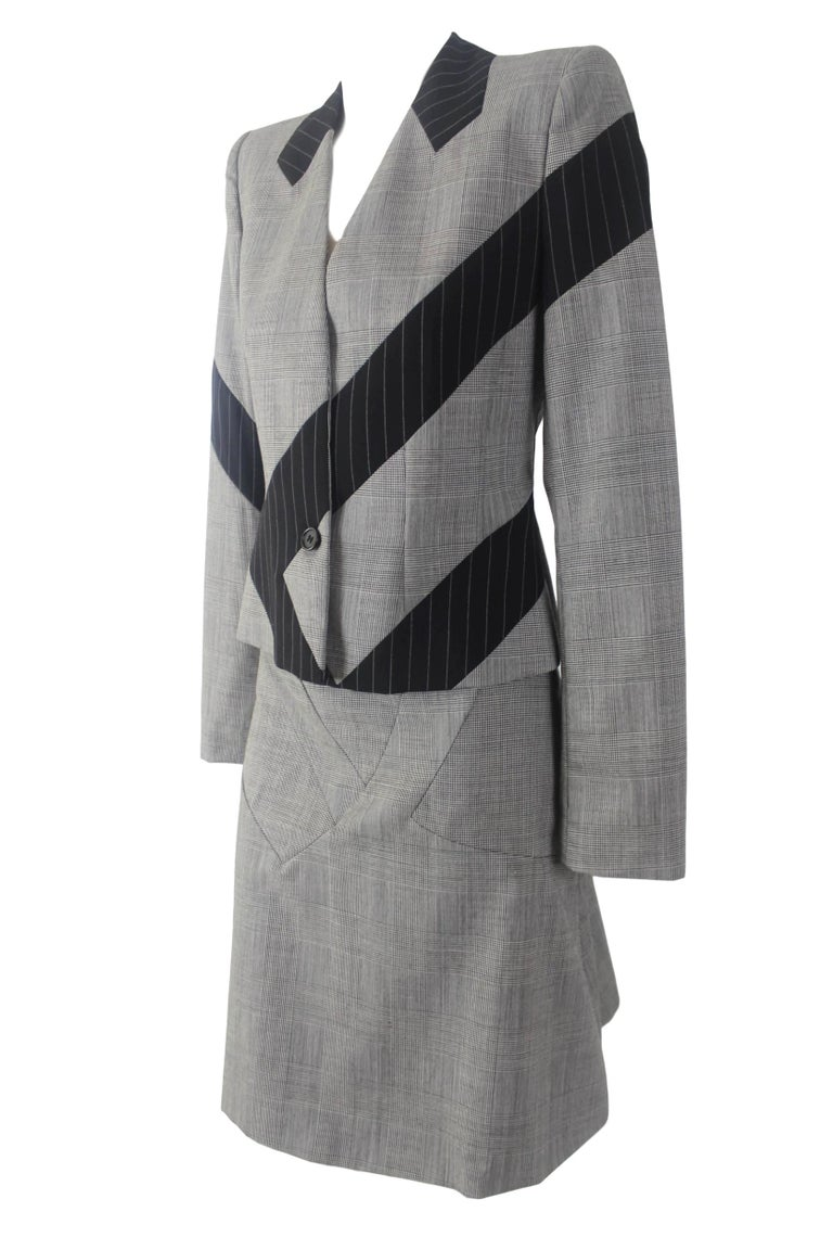 Men's Alexander McQueen Fitted Skirt Suit 1997 Collection For Sale