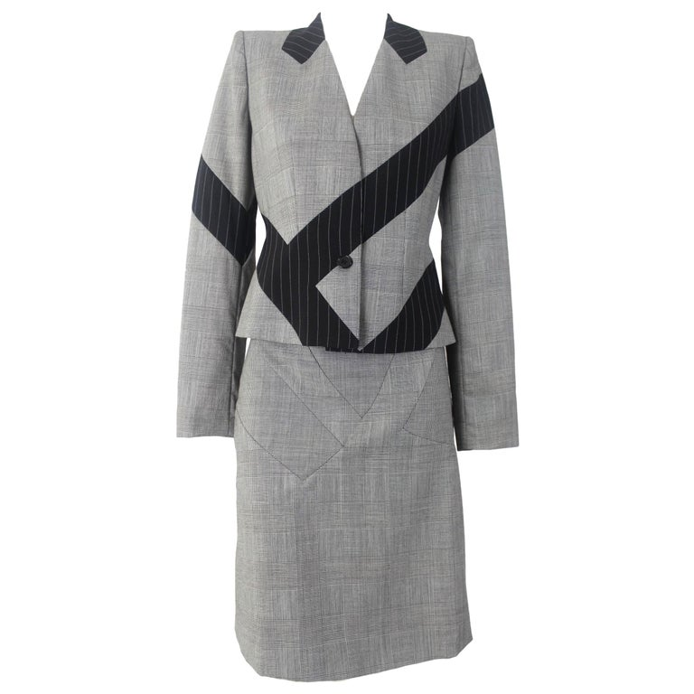Alexander McQueen Fitted Skirt Suit 1997 Collection For Sale