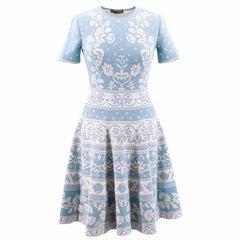 Alexander Mcqueen Floral Jacquard Knit Dress