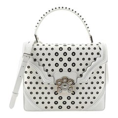 Alexander McQueen Flower Satchel Perforated Leather Medium