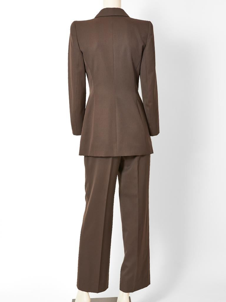 Alexander McQueen for Givenchy Double Breasted Pant Suit In Good Condition In New York, NY