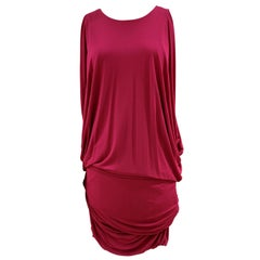 Alexander McQueen Fucsia viscose dress