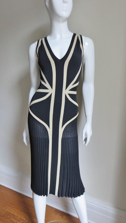 Women's Alexander McQueen Geometric Color Block Bodycon Dress For Sale