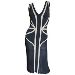 Alexander McQueen Geometric Color Block Bodycon Dress