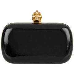 Alexander McQueen Glossed-Leather Clutch Bag