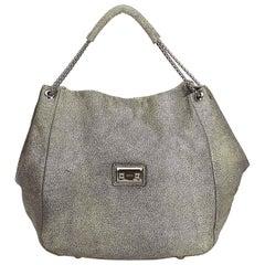 Alexander Mcqueen Green Textured Leather Hobo Bag