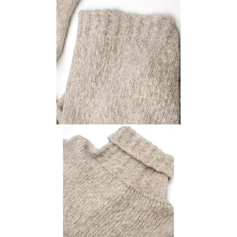 Alexander McQueen Grey Skull Print Wool Blend Roll Neck Sweater XS For Sale 3