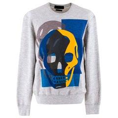 Alexander McQueen Grey Skull Pullover - Size S