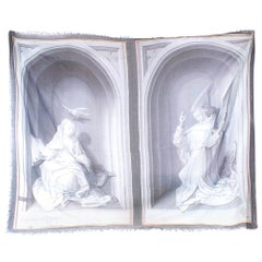 Alexander Mcqueen Grey Statue Print Scarf