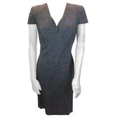 Alexander McQueen Grey Tweed Dress