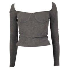 Alexander McQueen grey viscose Long Sleeve Knit Top M
