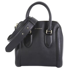Alexander McQueen Heroine Convertible Bowling Bag Leather Medium