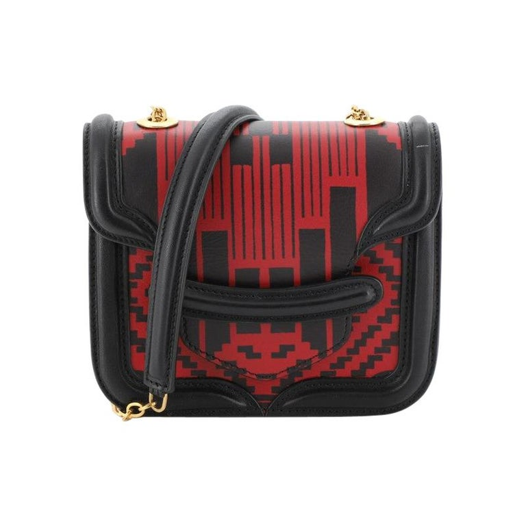 Alexander McQueen Heroine Satchel Printed Leather with Python Mini For Sale