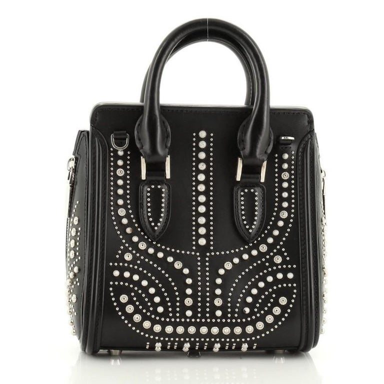 Black Alexander McQueen Heroine Tote Studded Leather Mini