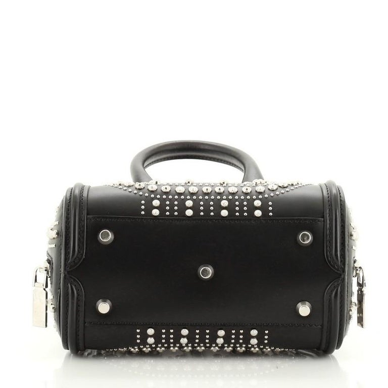 Alexander McQueen Heroine Tote Studded Leather Mini  In Good Condition In New York, NY