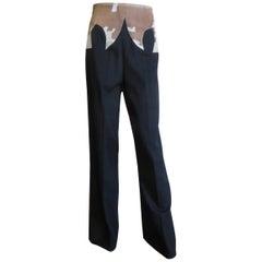 Alexander McQueen Iconic Fur Trim Pants F/W 1997