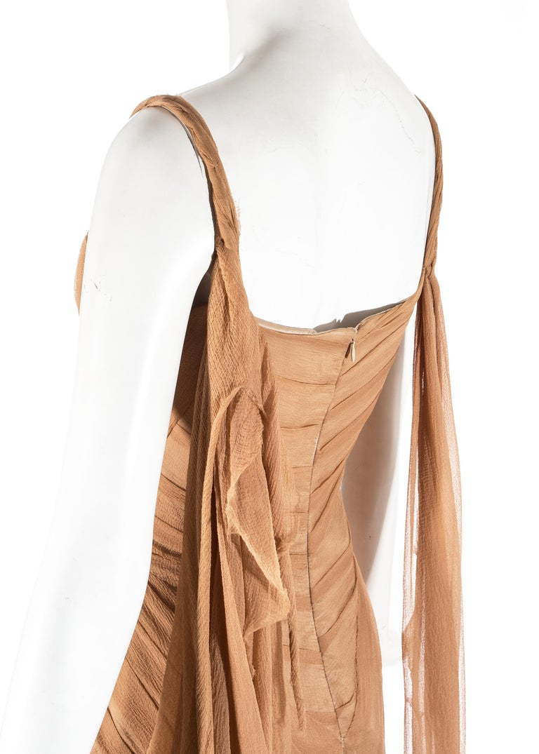 Alexander McQueen 'Irere' silk chiffon corseted evening dress, S/S 2003 For Sale 4