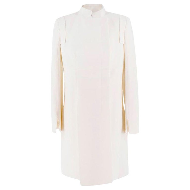 Alexander McQueen Ivory Single Breasted Coat US 6 For Sale