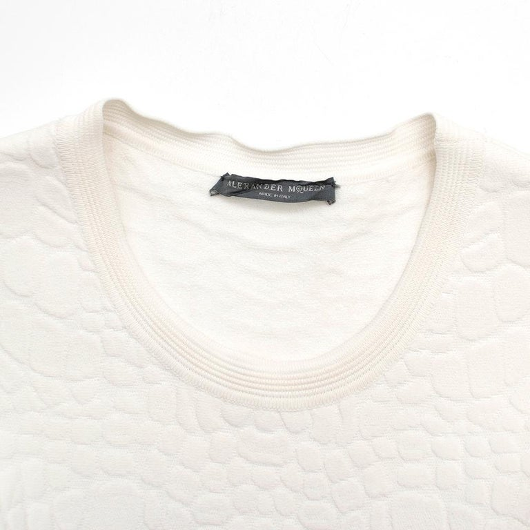 Women's or Men's Alexander McQueen Jacquard Crocodile Effect Skater Dress For Sale