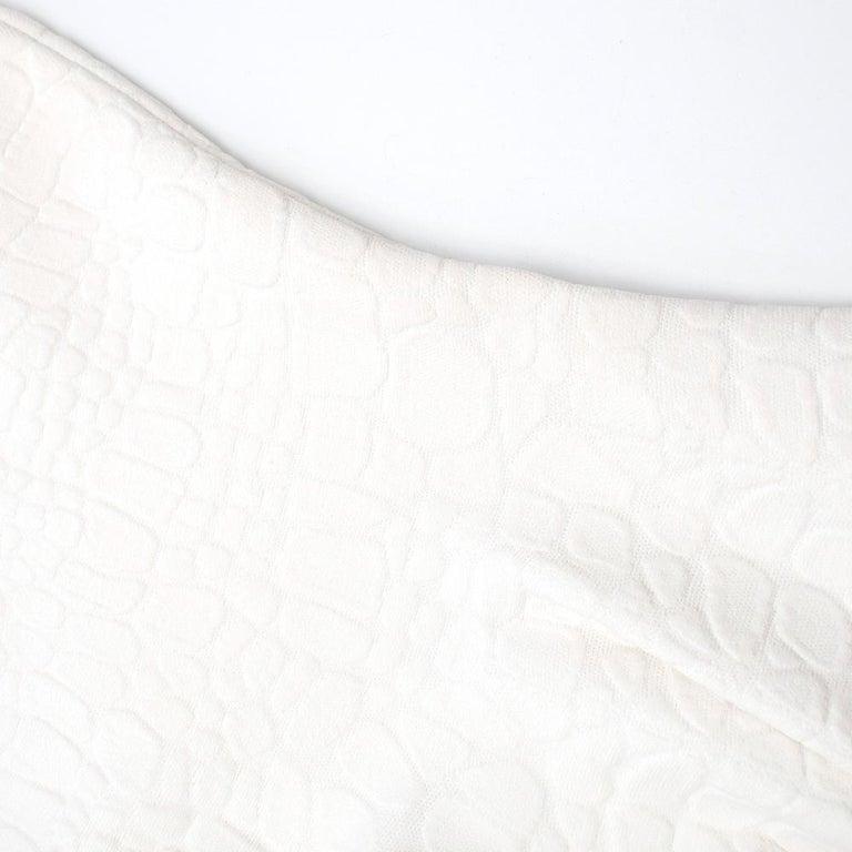 Alexander McQueen Jacquard Crocodile Effect Skater Dress For Sale 4