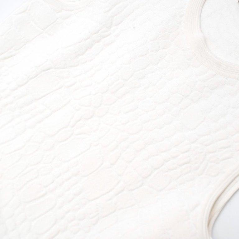 Alexander McQueen Jacquard Crocodile Effect Skater Dress For Sale 5