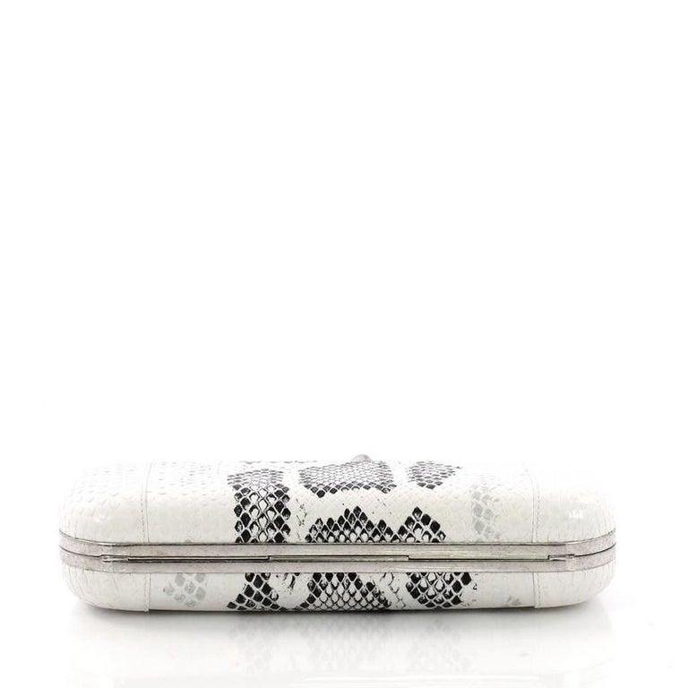 Women's or Men's Alexander McQueen Knuckle Box Clutch Python Long For Sale
