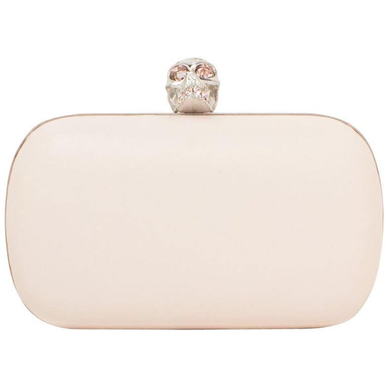 9433dc904e006 Alexander McQueen Leather Skull Box Clutch Bag For Sale at 1stdibs