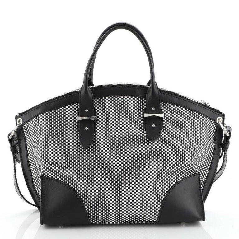 Women's or Men's Alexander McQueen Legend Convertible Satchel Woven Leather Medium  For Sale