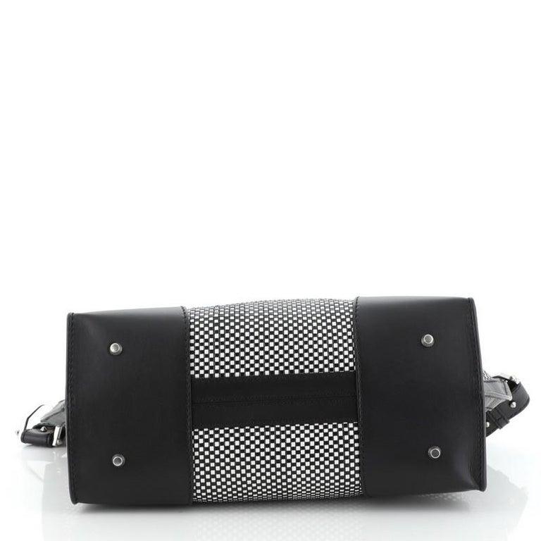 Alexander McQueen Legend Convertible Satchel Woven Leather Medium  For Sale 1