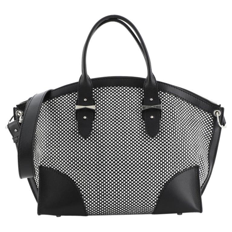 Alexander McQueen Legend Convertible Satchel Woven Leather Medium  For Sale