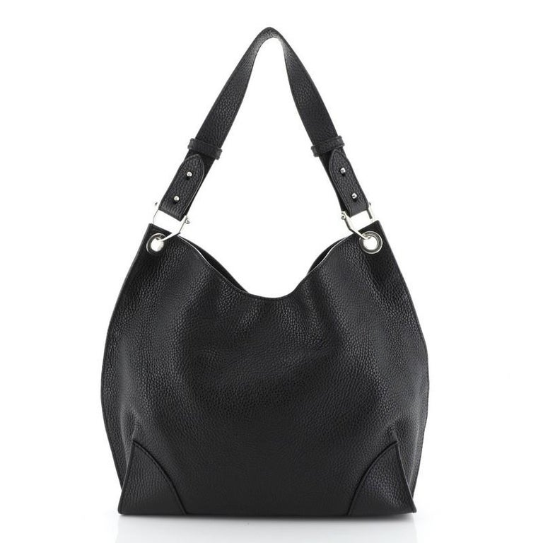 Black Alexander McQueen Legend Hobo Leather Medium  For Sale
