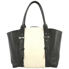 Alexander McQueen Legend Tote Shearling with Leather Medium