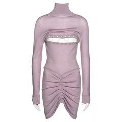 Alexander McQueen lilac wool button-up sweater dress, fw 1996