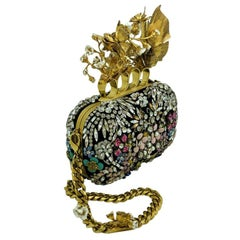 Alexander McQueen Limited Edition Butterfly Floral Box Clutch - Beaded