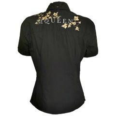 Alexander McQueen Logo Ivy Embroidered Shirt 1995