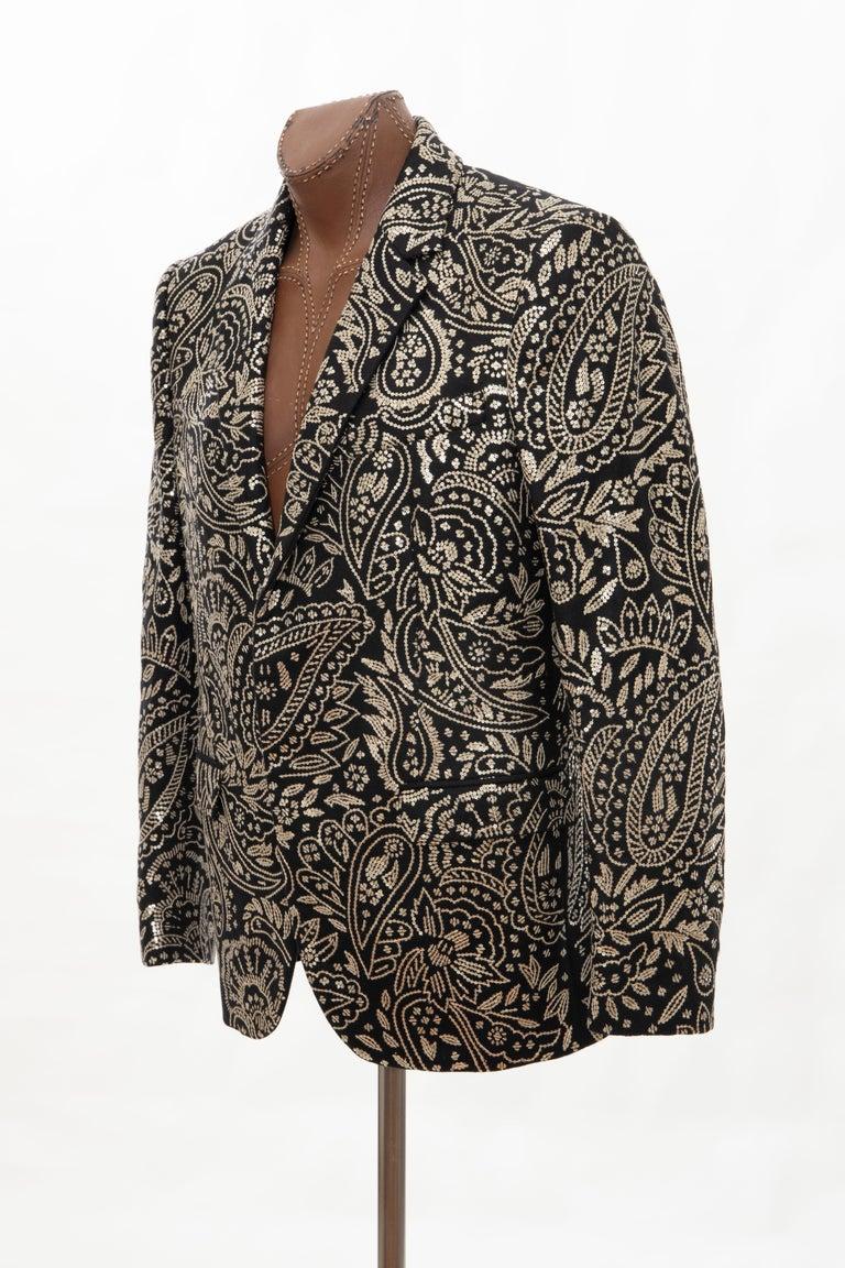 Alexander McQueen Men's Runway Black Wool Embroidered Sequin Blazer, Fall 2016 For Sale 8