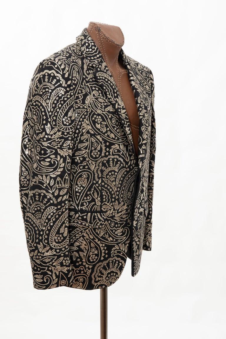 Alexander McQueen Men's Runway Black Wool Embroidered Sequin Blazer, Fall 2016 For Sale 2