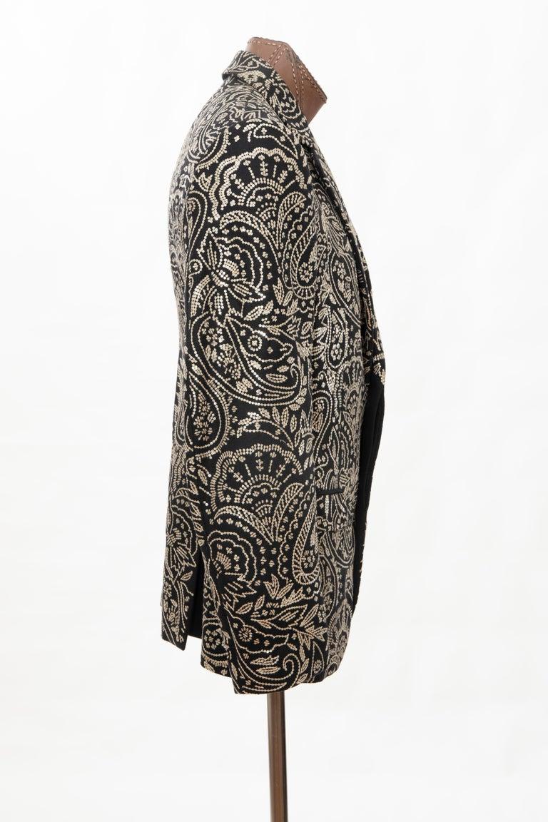 Alexander McQueen Men's Runway Black Wool Embroidered Sequin Blazer, Fall 2016 For Sale 3